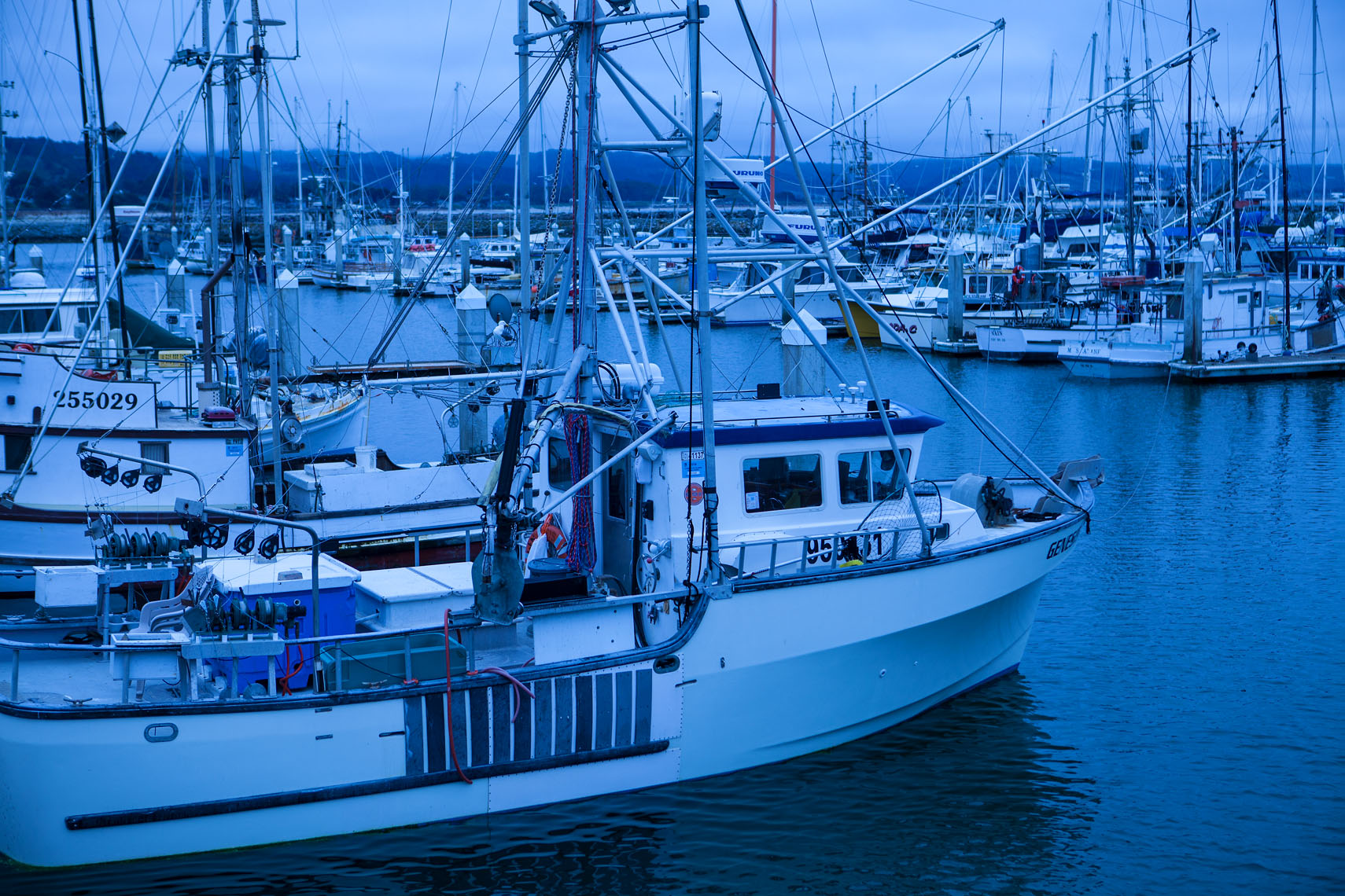 commercial salmon fishing boats, El Granada near Half Moon Bay