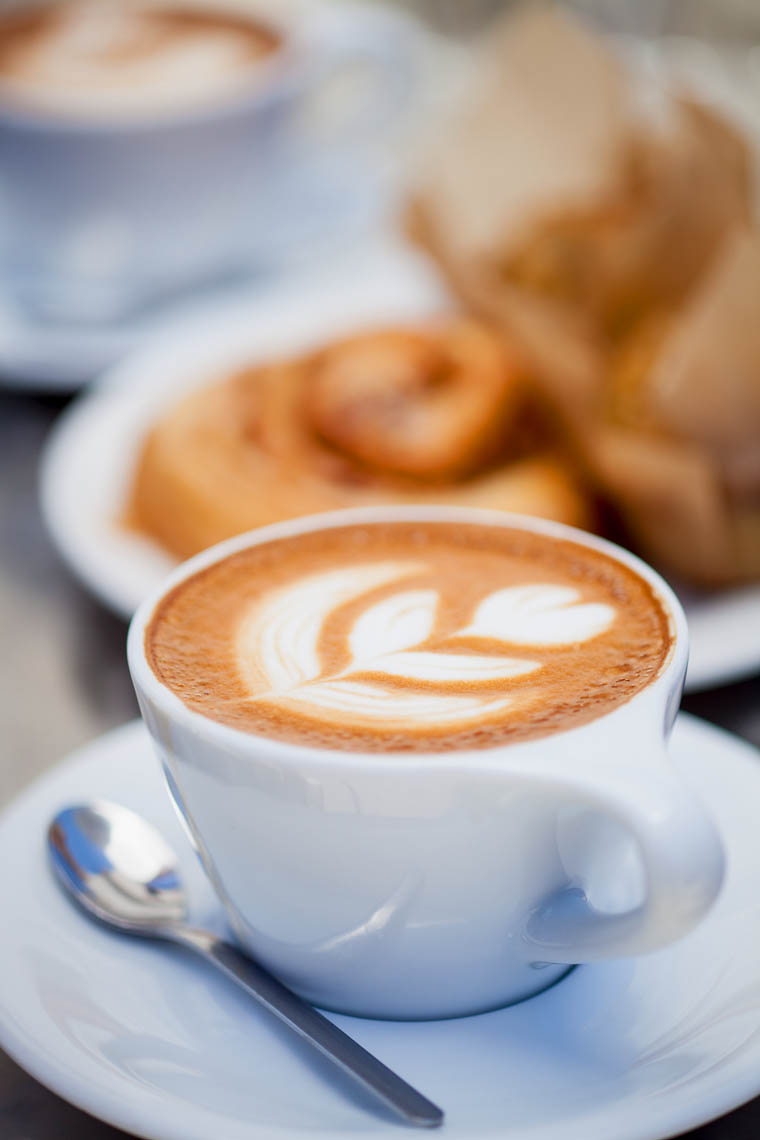cappuccinos with pastries