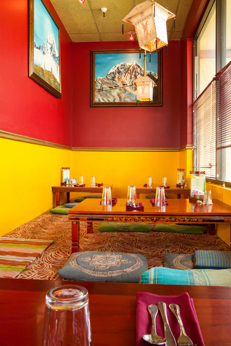 Interior of a restaurant that serves Himalayan Food